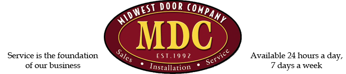 Midwest Door Company, Service is the foundation of our business, Available 24 hours a day, 7 days a week